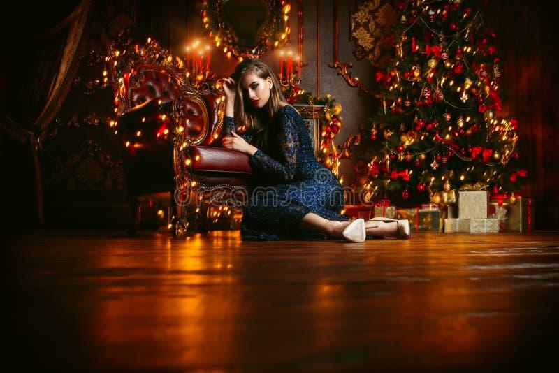 Luces de la magia de Navidad imagen de archivo libre de regalías