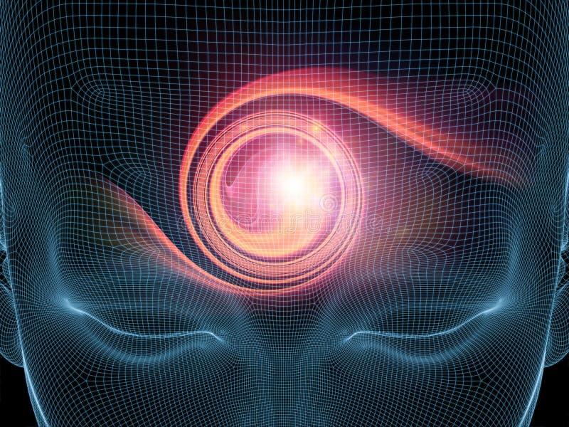 Luces de la mente ilustración del vector