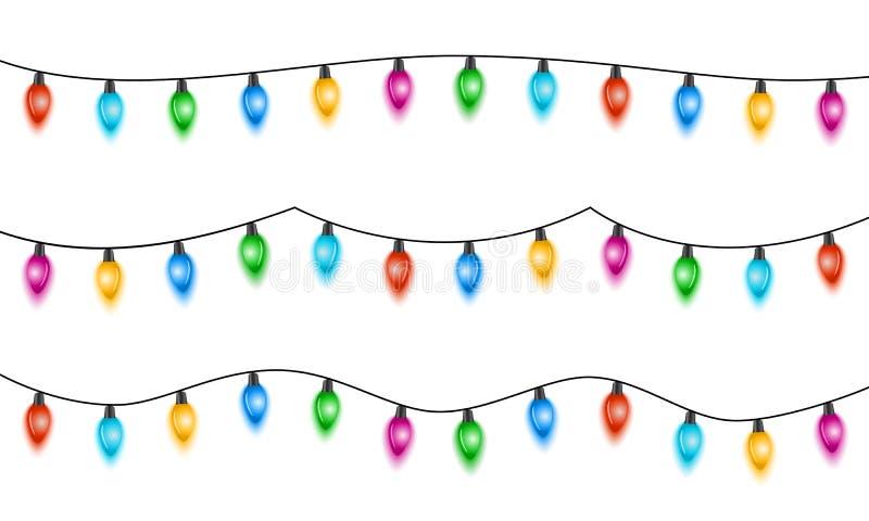 Luces de la Navidad ilustración del vector