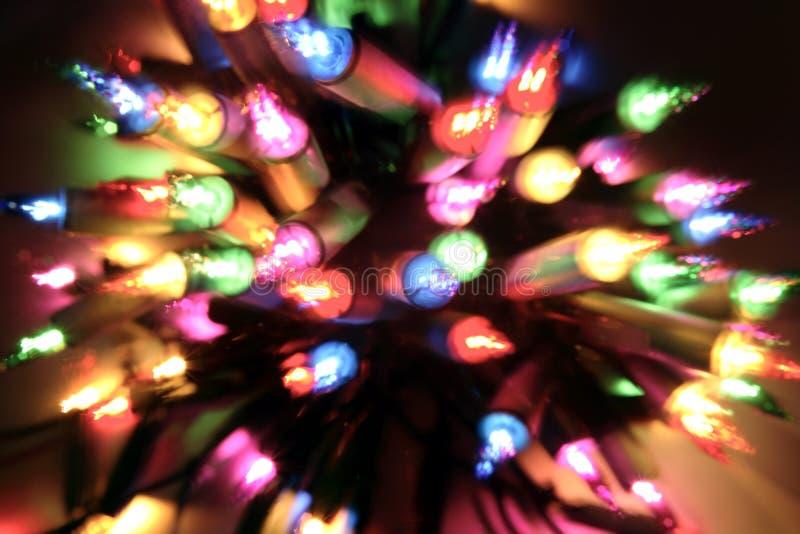 Luces de la Navidad imagenes de archivo