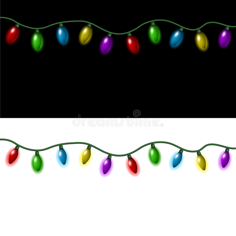 Luces de la Navidad stock de ilustración