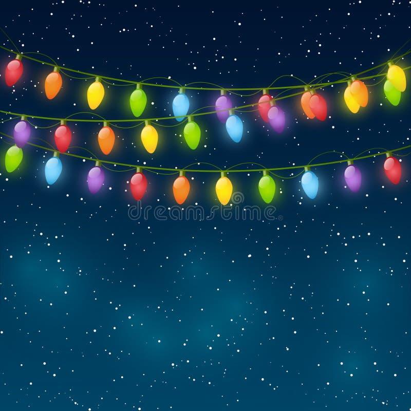 Luces de la Navidad libre illustration
