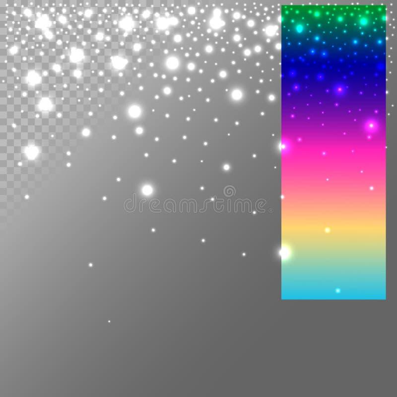 Luces de la Navidad abstractas fáciles corregir, enrrollar para el día de fiesta de Navidad ilustración del vector