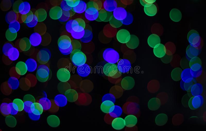Luces de la Navidad de Bokeh fotos de archivo