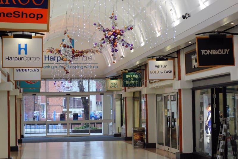 Luces de la Navidad, centro de Harpur, Bedford, Reino Unido. fotografía de archivo
