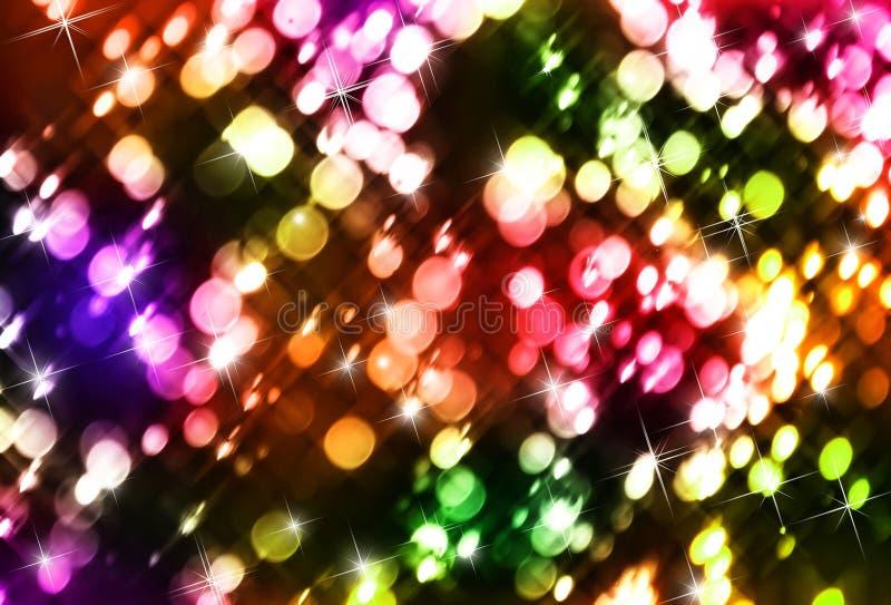 Luces de la Navidad coloridas imagen de archivo libre de regalías