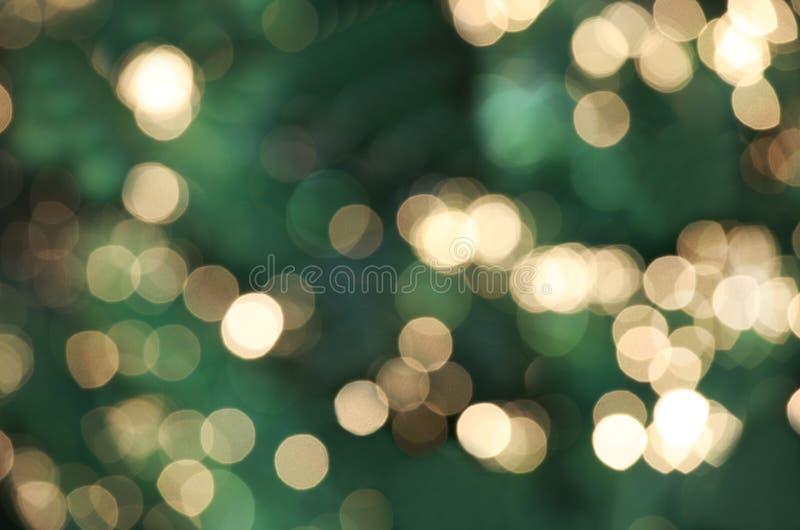Luces de la Navidad Defocused fotografía de archivo