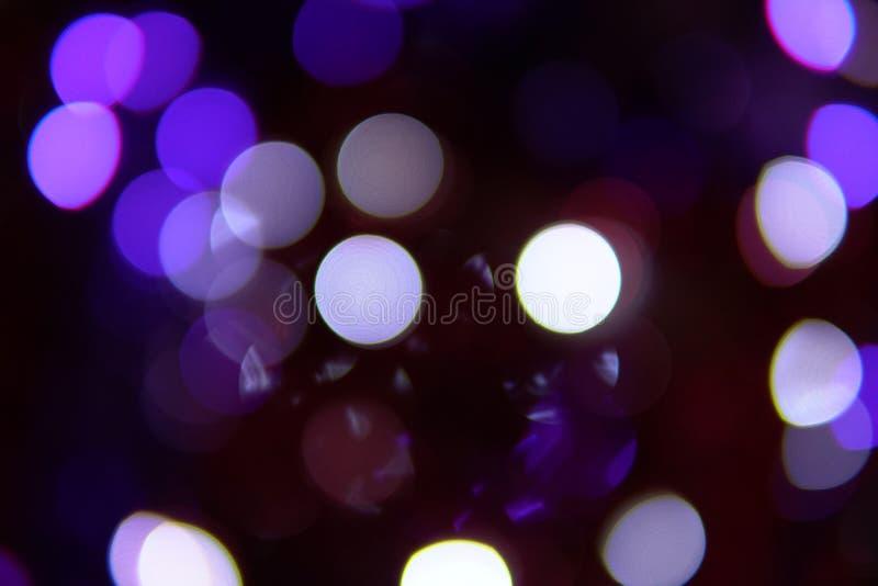 Luces de la Navidad del Año Nuevo Bokeh z 2019 z fotos de archivo