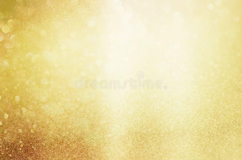 Luces de la Navidad del oro que brillan Fondo abstracto enmascarado imagen de archivo libre de regalías