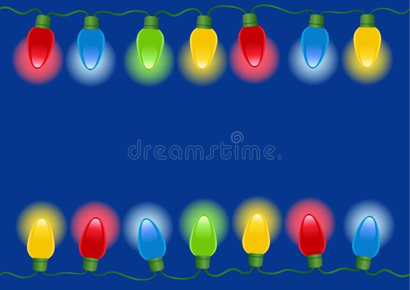 Luces de la Navidad en vector ilustración del vector