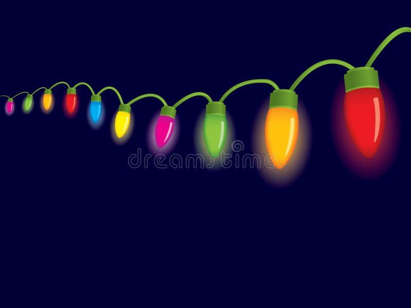 Luces de la Navidad festivas stock de ilustración