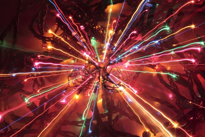 Luces de la Navidad locas fotografía de archivo