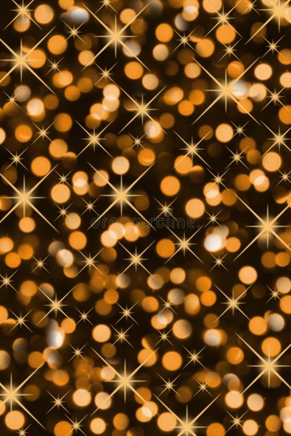Luces de la Navidad mágicas fotografía de archivo