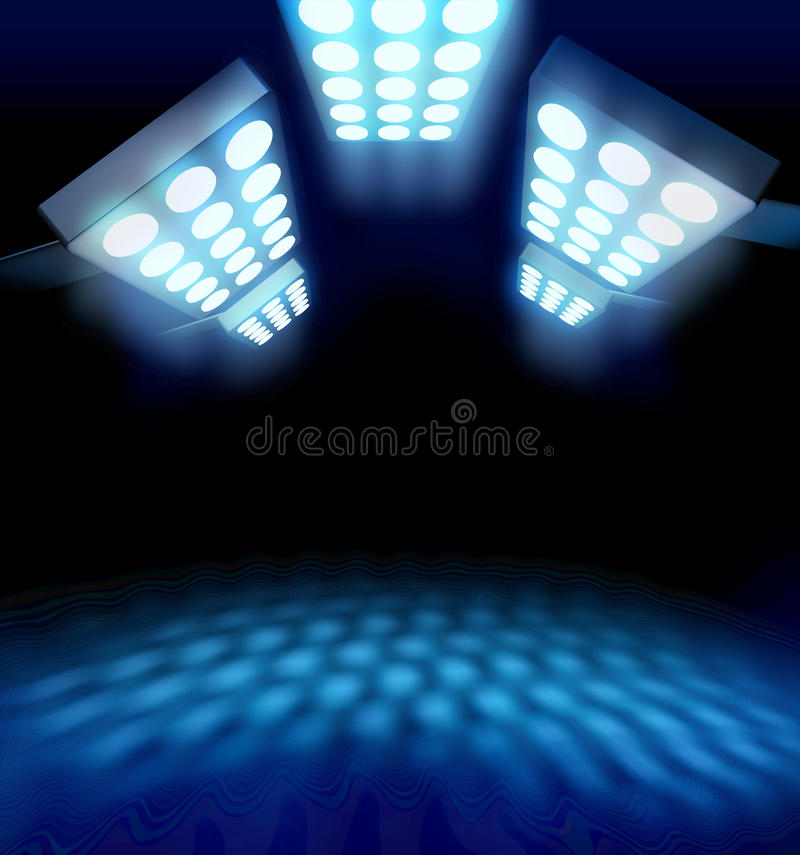 Luces de la premier del estilo del estadio stock de ilustración