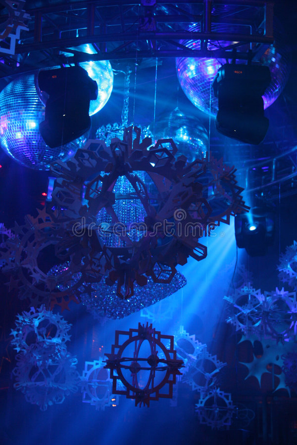 Luces de la sala de baile del club nocturno fotografía de archivo