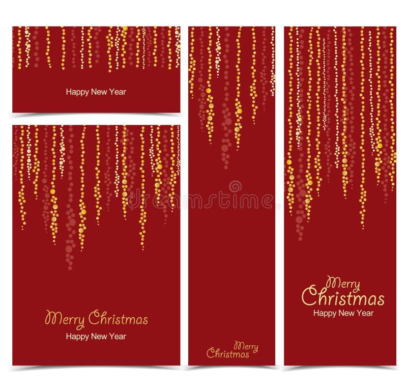 Download Luces De La Secuencia De La Navidad Ilustración del Vector - Ilustración de feliz, brillo: 100529557