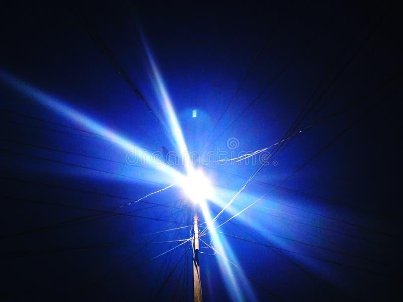 Luces de la sombra azul imágenes de archivo libres de regalías