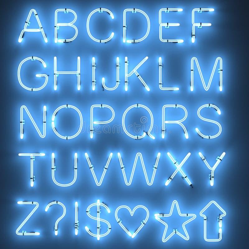 Luces de neón - alfabeto libre illustration