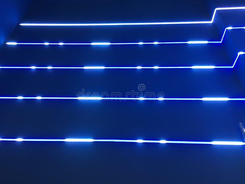 Luces de neón azules fotografía de archivo