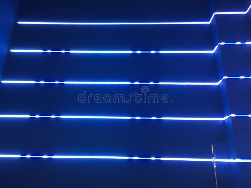 Luces de neón azules foto de archivo libre de regalías