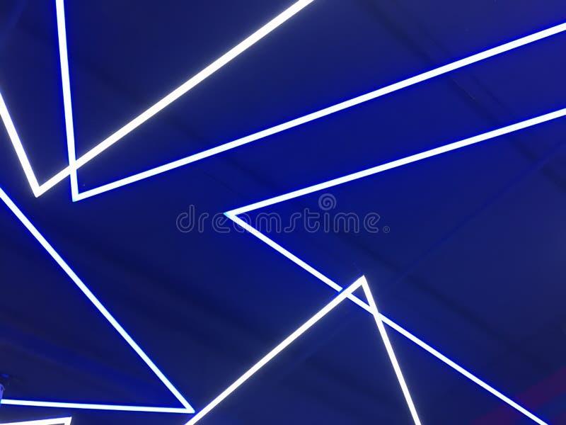 Luces de neón azules imágenes de archivo libres de regalías