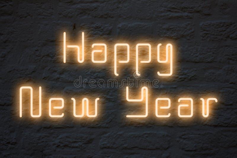 Luces de neón de la Feliz Año Nuevo libre illustration