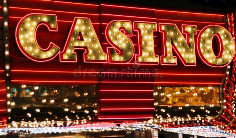 Luces de neón del casino fotografía de archivo libre de regalías