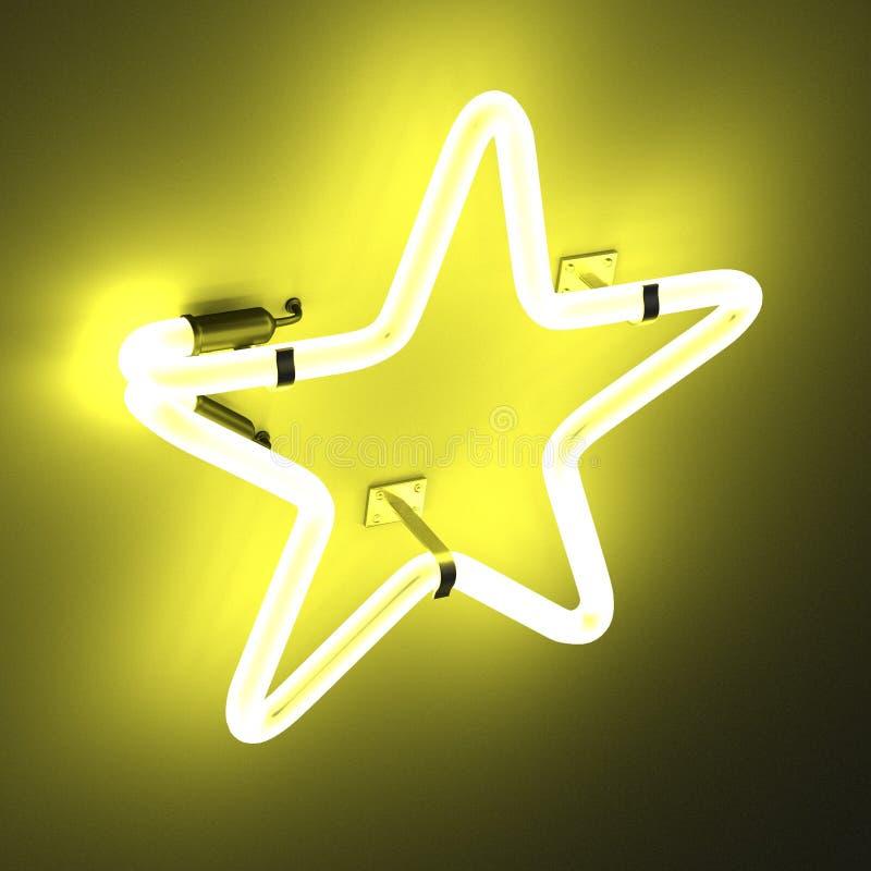 Luces de neón - estrella ilustración del vector