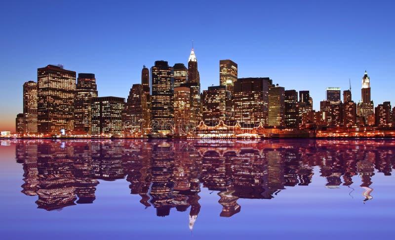 Luces de New York City fotografía de archivo libre de regalías