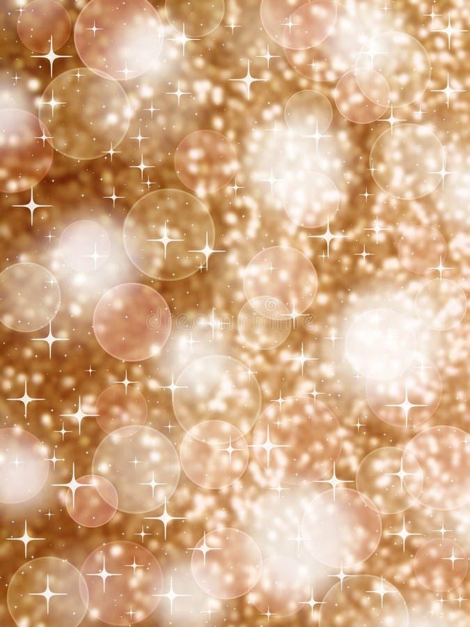 Luces de oro de Navidad ilustración del vector
