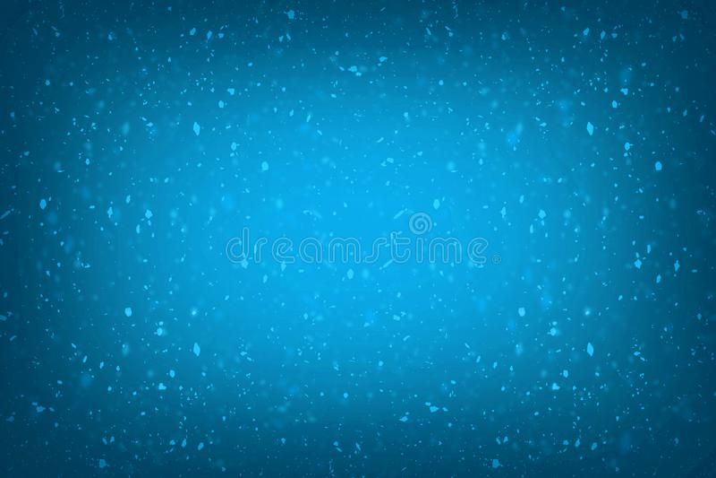 Luces de oro del chapoteo del bokeh de la miel de la falta de definición del confeti azul abstracto del brillo con el fondo de la ilustración del vector