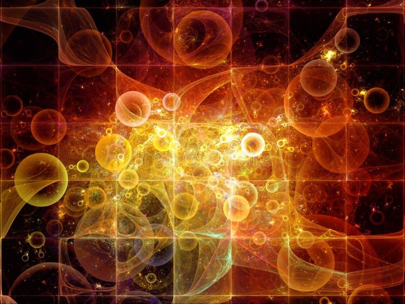 Luces de partículas elementales ilustración del vector