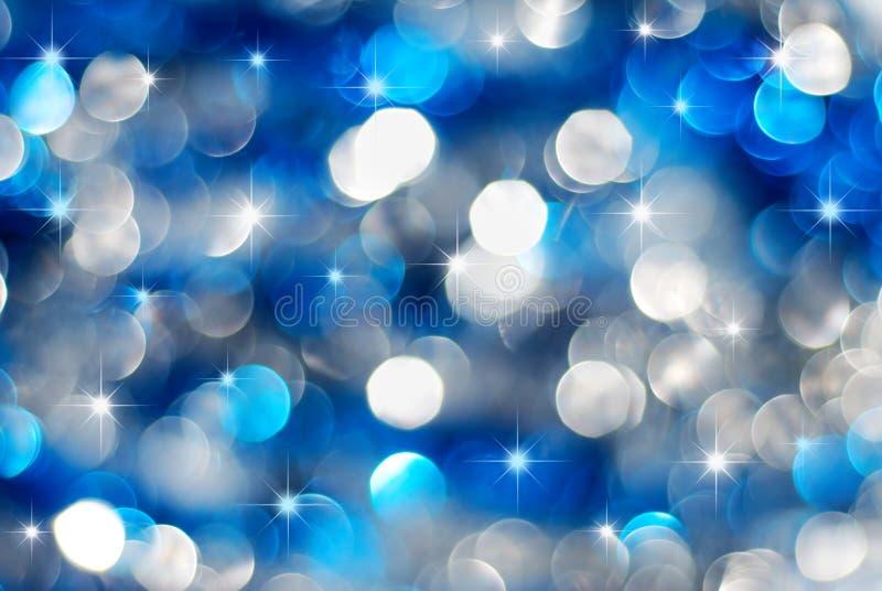 Luces de plata y azules del día de fiesta fotos de archivo libres de regalías