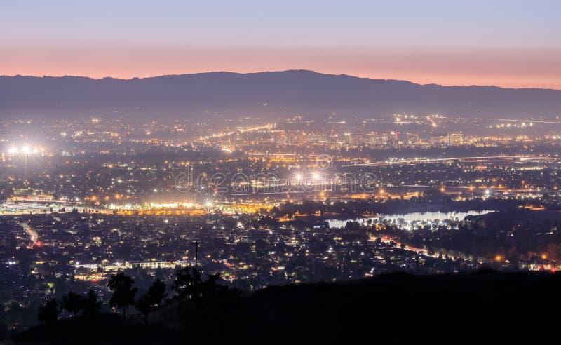 Luces de Silicon Valley fotos de archivo libres de regalías