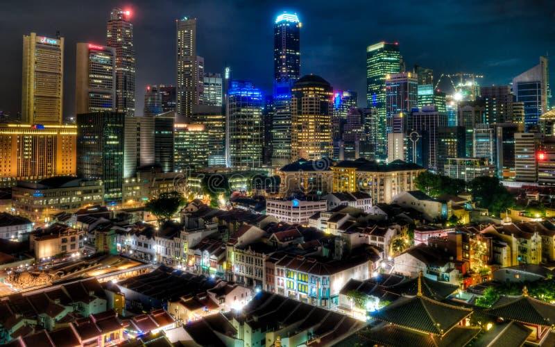 Luces de Singapur imagen de archivo libre de regalías