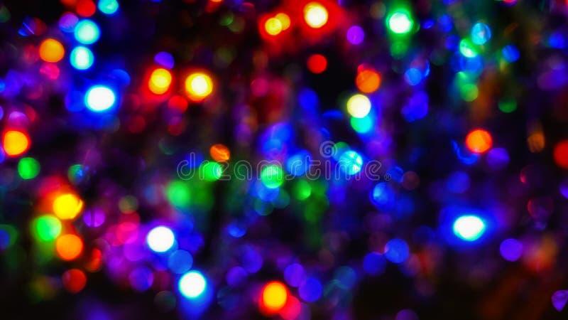 Luces del árbol de navidad fotos de archivo libres de regalías