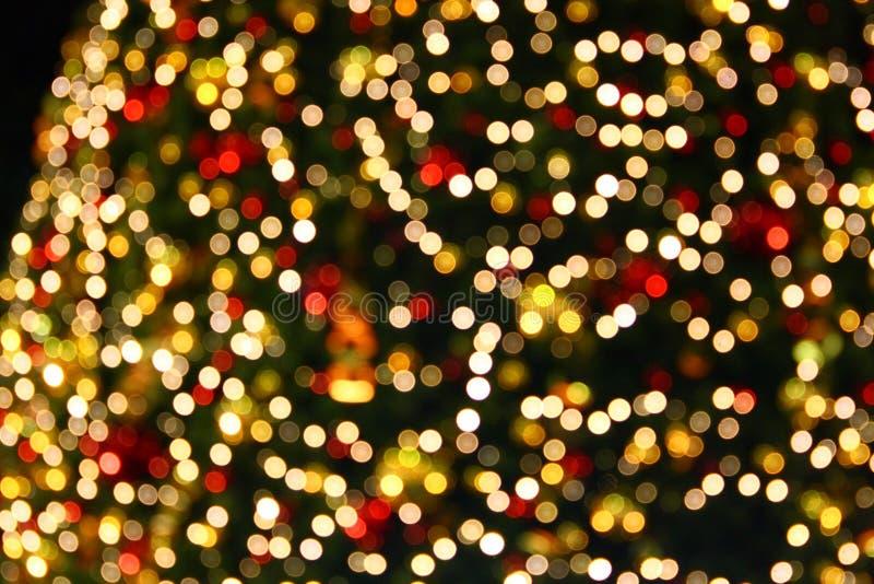 Luces del árbol de navidad fotografía de archivo