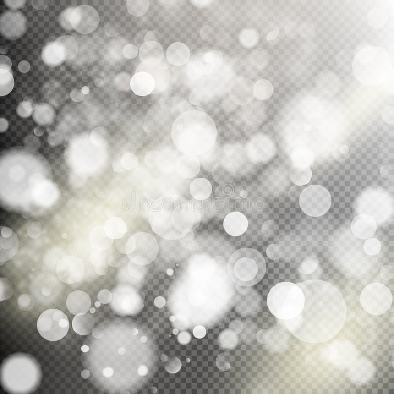 Luces del bokeh del oro EPS 10 stock de ilustración