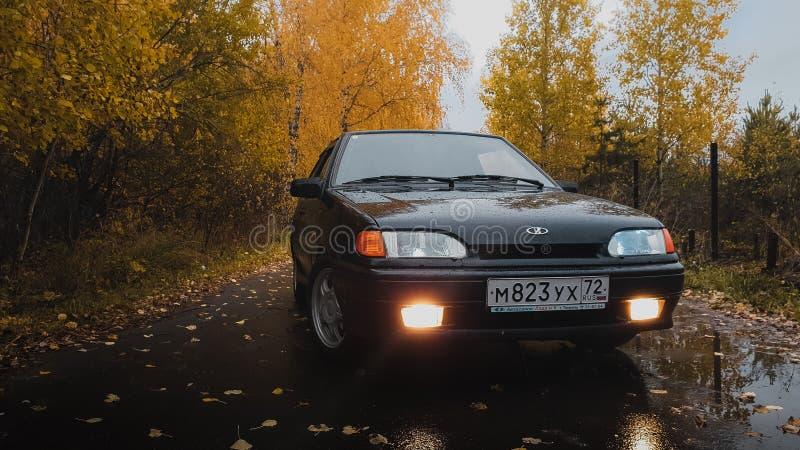 Luces del coche foto de archivo
