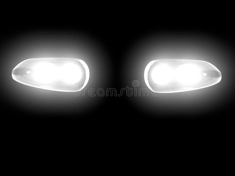 Luces del coche libre illustration