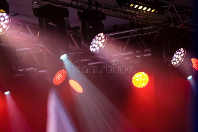 Luces del concierto o del club del disco fotografía de archivo libre de regalías