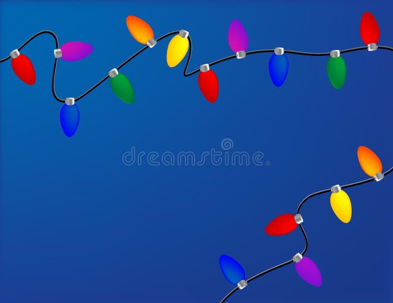 Luces del día de fiesta ilustración del vector