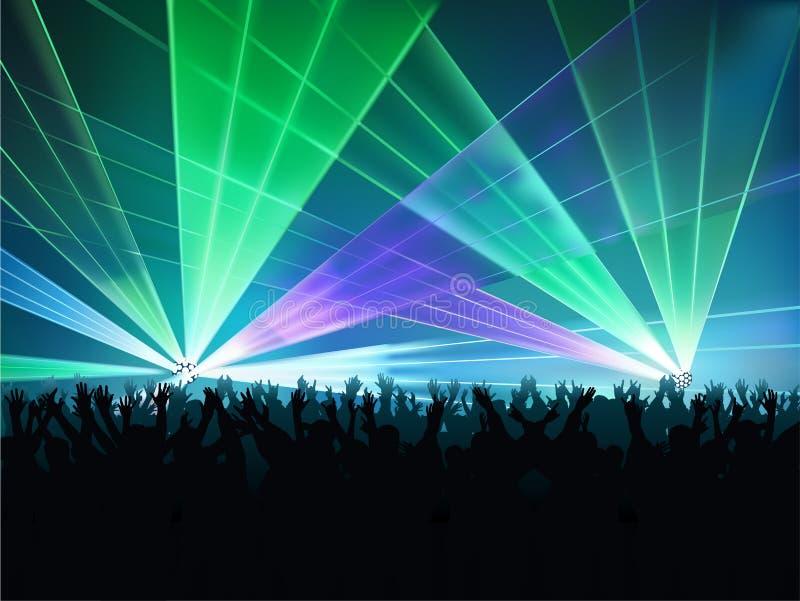 Luces del disco ilustración del vector
