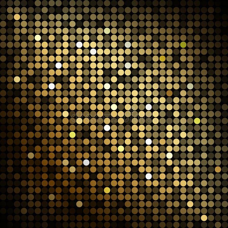 Luces del disco del oro ilustración del vector