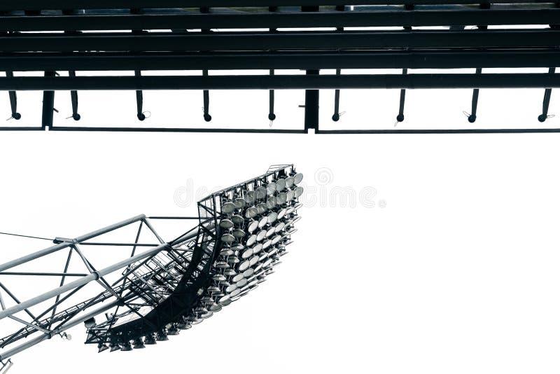 Luces del estadio en el parc olímpico en Munich fotografía de archivo