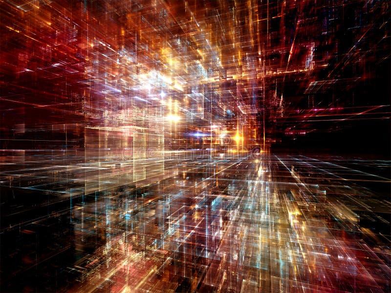 Luces del mundo de Digitaces stock de ilustración