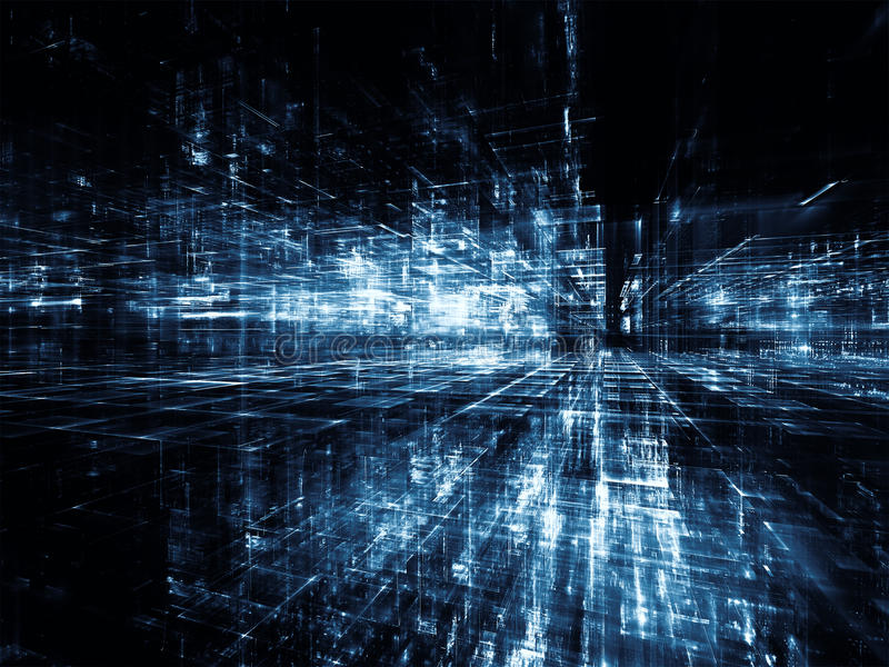 Luces del mundo virtual ilustración del vector