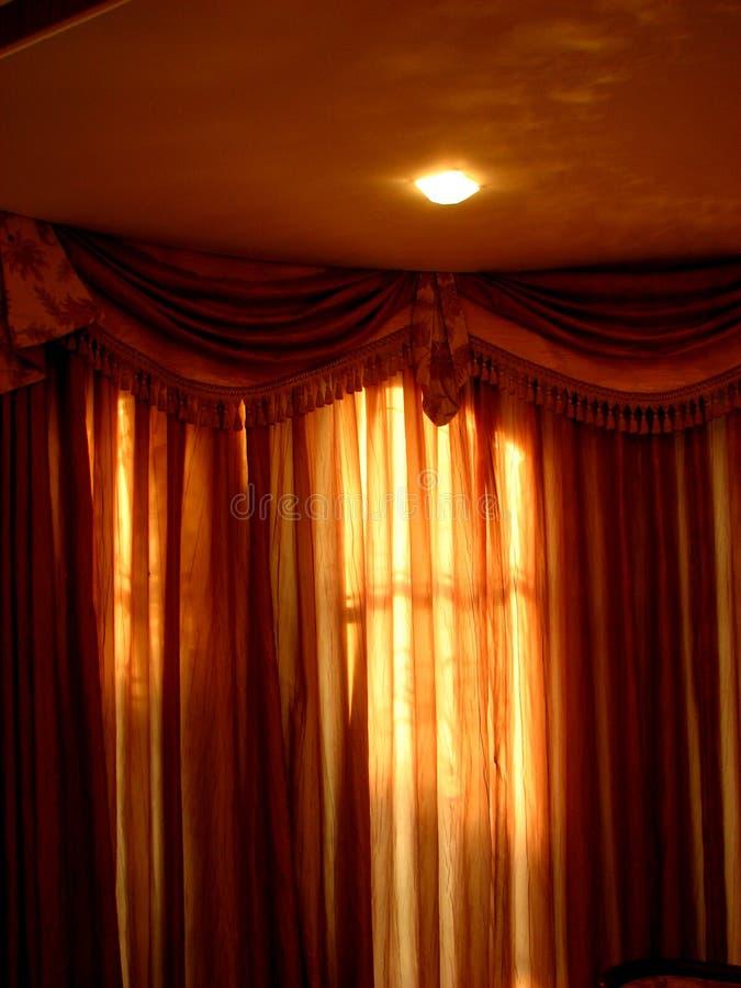 Luces del n de las cortinas imagen de archivo