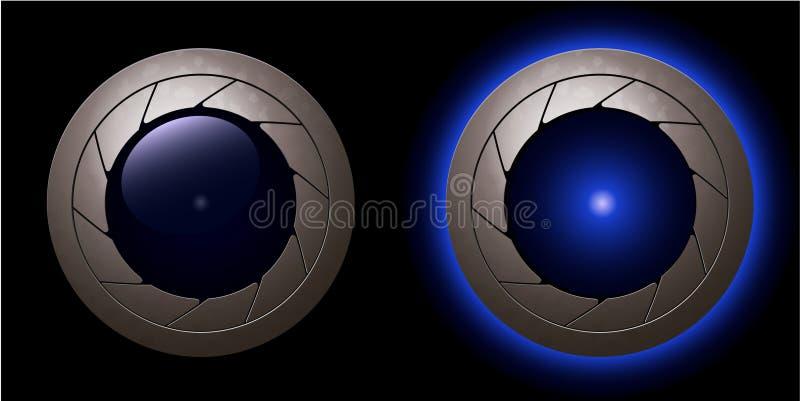 Luces del obturador ilustración del vector