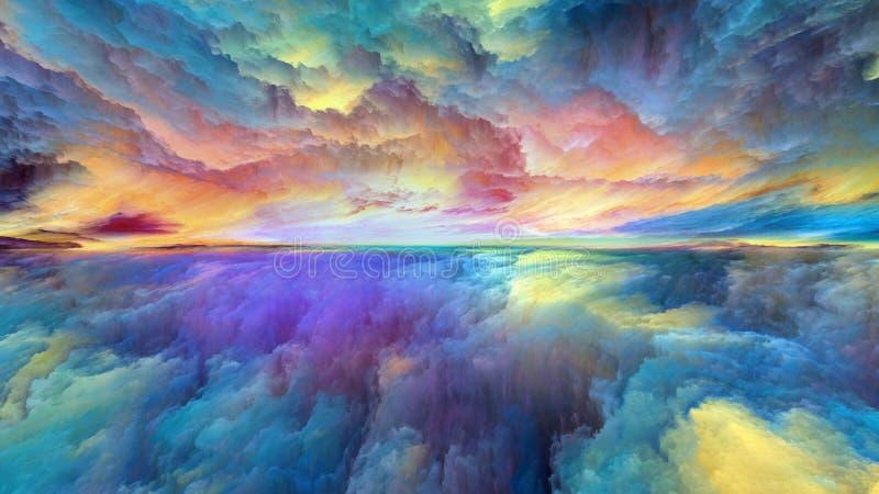 Luces del paisaje abstracto libre illustration